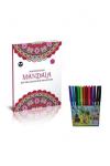 Akıllı Adam Yayınları Akıllı Adam Mandala Boyama Zor Desenler 12 Renk Tgb Keçeli Kalem Hediyeli   Trendyol