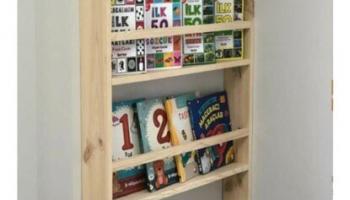 Oyuncak Odası Montessori Eğitici Kitaplık Ahşap 4 Raflı