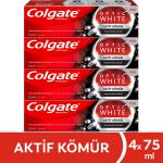 Colgate Optik Beyaz Aktif Kömür Beyazlatıcı Diş Macunu 75 ml x 4 Adet – Kargo Bedava