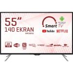 Morio MR55850 55″ 140 Ekran Uydu Alıcılı 4K Android Smart LED Tv