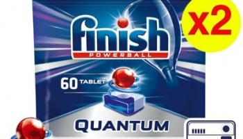 Finish Quantum 120 Tablet Bulaşık Makinesi Deterjanı (60×2)