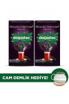 Doğadan Büyülü Harman 900 Gr Dökme Siyah Çay X2 + Cam Demlik Hediye
