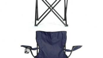 Tedarikcenter Kamp Sandalyesi 2 Adet Katlanabilir Kamp Sandalyesi – Lacivert