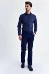 Hatemoğlu Erkek Lacivert Desenli Regular Pantolon