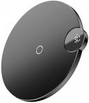 Baseus WXSX-01 Dijital Göstergeli Kablosuz Wireless Telefon Şarj Cihazı, Siyah