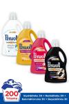 Perwoll Hassas Sıvı Çamaşır Deterjanı, Siyah+Renkli+Bakım Onarım+Beyaz 3L 4'lü Set