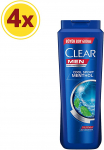 Clear Men Cool Sport Şampuan, 600 Ml x 4 Adet