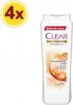 Clear Saç Dökülmesine Karşı Etkili Şampuan, 600 Ml x 4 Adet