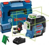 Bosch Professional Çizgi Lazeri Gll 3/80 Cg (Yeşil Lazer, Bluetooth Fonksiyonu, 1 Akü, 12V, Çalışma Alanı: 120 M, L/Boxx Içinde)