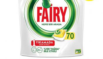 Fairy Hepsi Bir Arada 140 Yıkama Bulaşık Makinesi Deterjanı Kapsülü, Limon Kokulu (70 x 2)