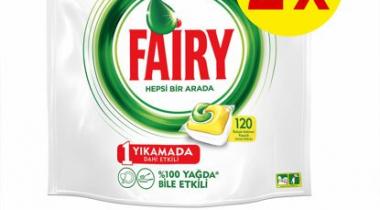 Fairy Hepsi Bir Arada Bulaşık Makinesi Kapsülü Limon 120 Yıkama 2 Adet