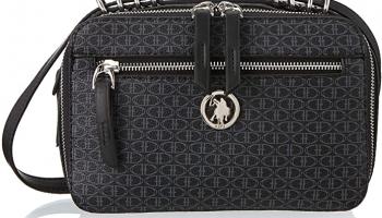 U.S. Polo Assn. Çapraz Kadın Askılı Çanta, Siyah (Siyah-Siyah), 9X15X25 Cm (B X H T)