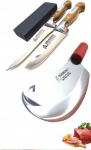 Sürmene 4 Parça Bıçak Seti (2 bıçak + zırh + bileme taşı)