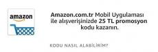 Amazon.com.tr 25 TL indirim çeki
