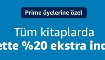 Amazon.com.tr Tüm kitaplarda sepette ekstra %20 indirim