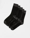 Pull & Bear Erkek Renkli 5'Li Çizgili Spor Çorap Paketi