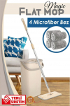 Magic Flat (Tablet) Mop Set + 4 Adet Microfiber Bez