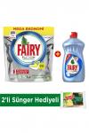 Fairy Platinum 90 Yıkama Tablet Limon Kokulu + Platinum 500 ml Bulaşık Deterjanı Hijyen+Sünger