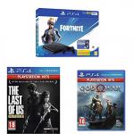 PS4 Slim 500 Gb Fortnite Bundle  + The Last Of Us PlayStation Hits + God Of War PlayStation Hits